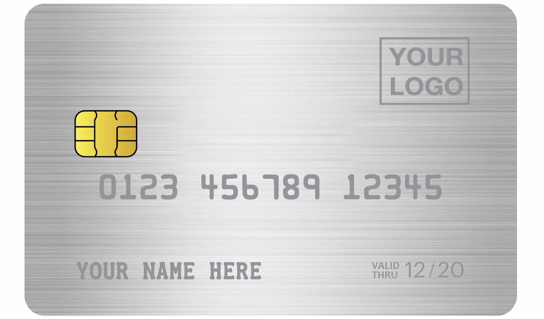MCK - Steel Classic sliver Metal credit card