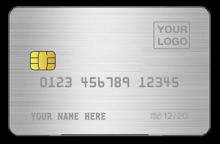 titanium debit card & personalised credit card